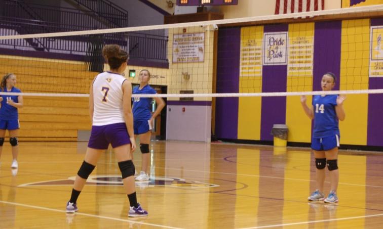 Eighth grader Callie Baker gets ready for the ball.