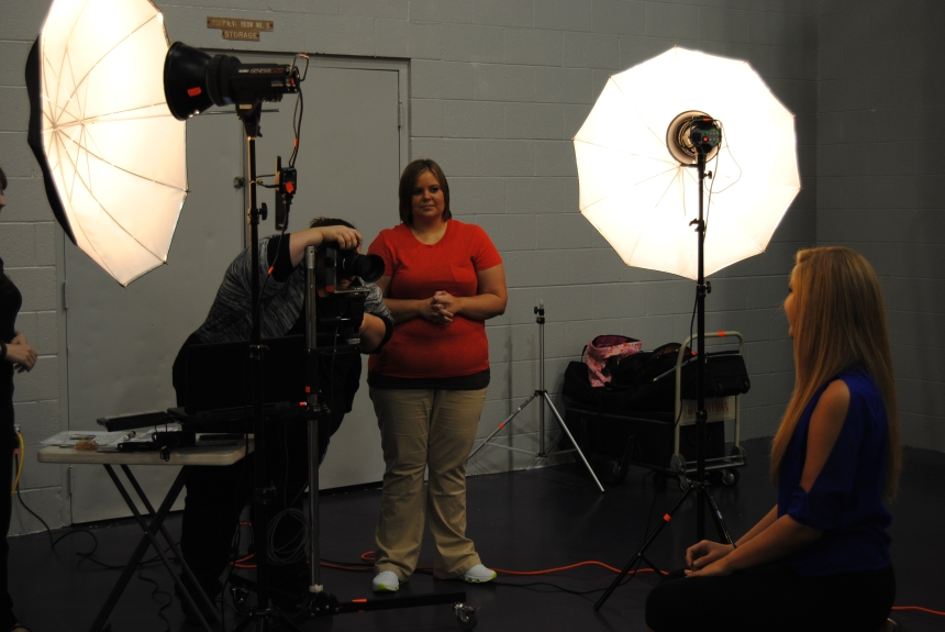 Sophomore Meagan Dooley poses for picture day.