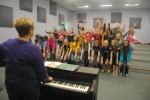 "3.	The ""Treble Makers"" practices their dances and final poses for the upcoming concert in October."