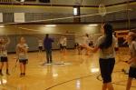 3.)Third period Junior High PE plays badminton.
