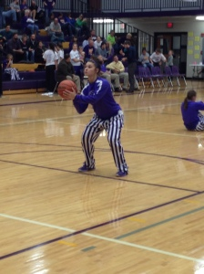 Hamilton Warms Up With A Free-Throw