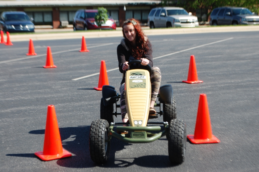 Senior Morgan Haley enjoys her wild ride in the drunk driving program.