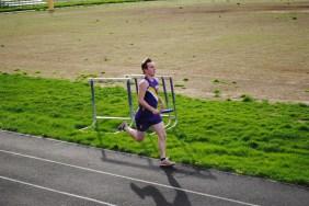 Senior Jeff Kenney runs in the 4 x 4 relay.