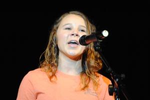 Ashley Archer, Freshman, sings a solo.