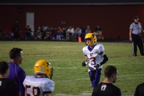 Sophomore Dawson Easterday runs to the sideline during the Brownstown game.