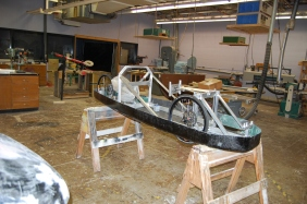 This is the working progress of the super mileage's car.