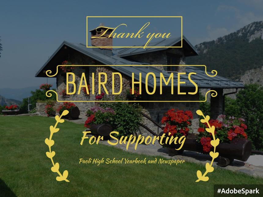 Thank You To Baird Homes Phs Media News