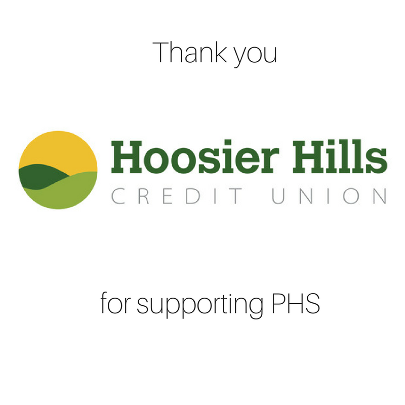 Thank you Hoosier Hills Credit Union for supporting PHS